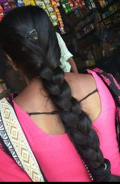 Black Girl Braids, Girls Braids, Indian Hairstyles, Braided Hairstyles, Indian Long Hair Braid, Long Black Hair, Beautiful Braids, Braids For Long Hair, Indian Beauty