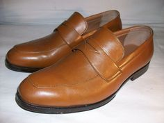 c0105c3e719 Perry Ellis Portfolio Men s Logan Dress Loafers Tan Leather 10.5 Medium   100  fashion  clothing