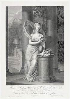 Marie-Antoinette, archiduchesse d'Autriche, reine de France. Musée du Louvre