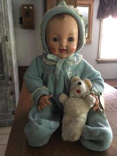 Vintage Effanbee Cuddle Up Baby Doll #Effanbee #DollswithClothingAccessories