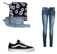"""""""Untitled #101"""" by musicheartbeatjj ❤ liked on Polyvore featuring Boohoo, rag & bone, Vero Moda and Vans"""