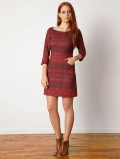 Tunic Dress Treasure Find: Great dress of pear and apple body shapes. Pendleton Woolen Mills: TOLOVANA DRESS