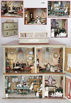 Antique Dollhouse, Dollhouse Dolls, Antique Dolls, Vintage Dolls, Dollhouse Miniatures, Miniature Rooms, Miniature Houses, Fairy Houses, Doll Houses