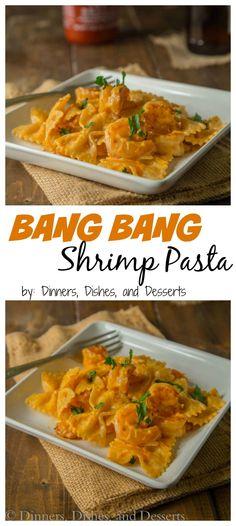 Bang Bang Shrimp Pasta – turn the famous bang bang shrimp appetizer into a main dish with this creamy pasta.