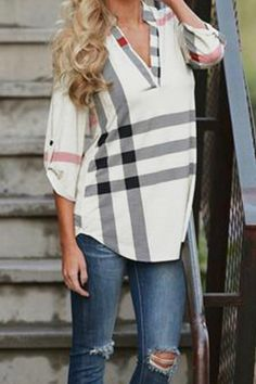 Pretty Little Things Plaid Top: Arrive to your next meeting in style with this must have Pretty Little Things Plaid top! Full of class and comfort you'll want to wear it on the weekends too! Long Sleeve with ivory, black and red plaid design. http://TheChicFind.com