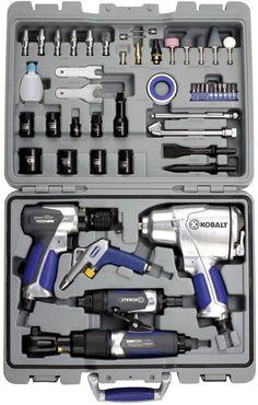 Kobalt 50-Piece Mechanics Workshop Air Impact Grinding Power Tool Kit #Kobalt