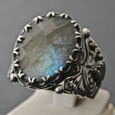 Sterling Silver Ring for Men with Blue