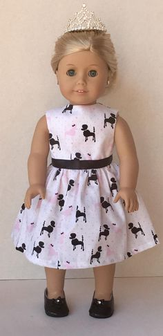 Doll Clothes American made Doll Dress to Fit 18 Girl