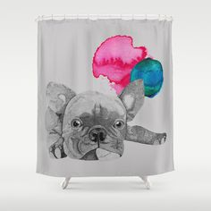 French Bulldog  Shower Curtain by Olivia James - $68.00