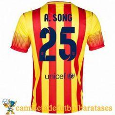 Camisetas Barcelona A.Song futbol segunda 2013-2014