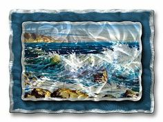 All My Walls NAU00100 Crashing Waves by All My Walls. $335.00. Create a splash in your decor with this Crashing Waves metal wall hanging. Consisting of two metal layers with a swirling hand-sanded finish that offers an astonishing three dimensional effect. Adding this piece to any room will instantly liven your decor. Size: 23.5'' Tall x 32.5'' Wide