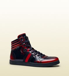 088e02b62f7cad burnished effect leather high-top sneaker  Gucci  Shoes Gucci High Tops
