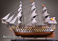 """Santisima Trinidad 50"""", Fully Assembled with cloth sails. MSRP $1,800 Now $895 or 50% OFF!"""