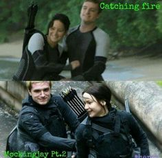 The hunger games catching fire and mockingjay part 2 peeta and katniss