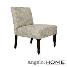 Think I want these next to my fireplace.... @Overstock - This beautiful angelo:HOME Bradstreet armless chair was designed by Angelo Surmelis. The Bradstreet chair is covered in a vintage cream and tan floral fabric.http://www.overstock.com/Home-Garden/angelo-HOME-Bradstreet-Vintage-Sea-Foam-Blue-Floral-Upholstered-Armless-Chair/6493826/product.html?CID=214117 $158.99