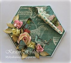 Card made from The Botanical Tea Collection. Made by Kirsten Hyde.