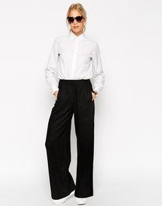 ASOS - Pantalon large en lin