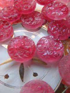 Occupied Japan Pink Rose Quartz  Glass Kimono by WhoKnowsWhat