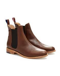 Joules Womens Leather Chelsea Boot, Brown. Everyone has a pair of boots that are a go-to favourite and we're certain that these wear-with-anything Chelsea boots will become yours. Crafted from chestnut brown leather they're both versatile and comfortable too.