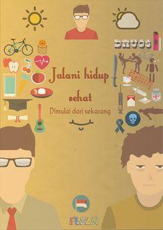 Dari sinilah saya tergerak menjadi seorang grafis desainer. Poster ini memenangkan piala untuk fls2n tingkat Bandung untuk juara 3. Walaupun ngonsepin doang dan gambar hasil nyomot google :)