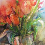 watercolor by Elke Memmler Watercolor Pictures, Watercolor Artists, Abstract Watercolor, Watercolor Illustration, Watercolour Painting, Watercolors, Abstract Flowers, Watercolor Flowers, Art Floral