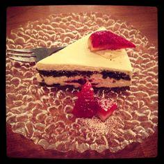Green Tea Sponge Cake at Necco - a 'kawaii' Japanese restaurant in Exmouth Market .@Trang Phan (Trang Phan) s Instagram photos | Webstagram - the best Instagram viewer