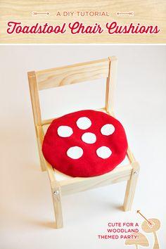 DIY Tutorial: Toadstool Chair Cushions