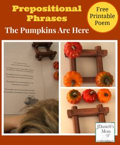 Prepositional Phrases Activity- Pumpkins Are Here!