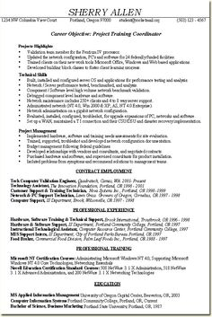 it project administrator sample resume 12 project coordinator resume sample singlepageresume project - Example Of A Resume For A Job