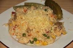 Kuracie rizoto Main Meals, Fried Rice, Fries, Menu, Chicken, Healthy, Ethnic Recipes, Cooking, Menu Board Design
