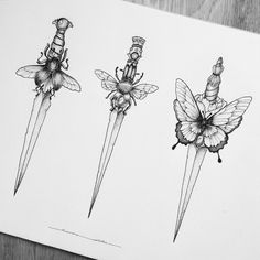 "765 Likes, 19 Comments - Marina Latre Tattoo (@marinalatre) on Instagram: ""Daggers """