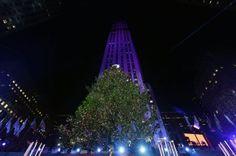 """NUEVA YORK (5 DIC 2013)       FOTO """"Encendido del mítico árbol del Rockefeller Center""""  La Navidad llega a Nueva York (CREDIT0: JASON SZENES - EFE) (664×439)"""