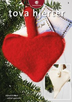 Click to enlarge Christmas Stockings, Christmas Ornaments, Christmas Knitting, Felt Art, Needlework, Knit Crochet, Holiday Decor, Gifts, Hearts