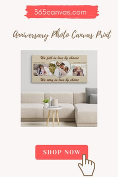 True love is hard to find; soulmates, even harder. With a We Fall in Love By Chance, We Stay in Love by Choice canvas, express your unwavering love for your soulmate this anniversary. This anniversary gift will be absolutely loved by your partner. #canvas#anniversarygifts#giftsforhim#couple#decor#anniversarygiftideas