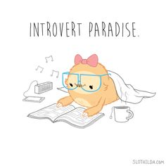 """There's a lot of confusion about what saying you're an """"introvert"""" actually means. It doesn't actually mean that you're always socially anxious, shy, a deep thinker, or hate parties. Extraversion and introversion are more simply explained by how peop"""