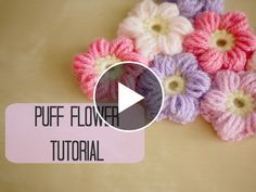 Hello everyone. Today I want to show you a tutorial of a puff flower crochet. This video is made by Bella Coco and explain you in minimal detail how to make this artwork. Here's some specs : Yarn: Stylecraft Acrylic… Crochet Puff Flower, Crochet Flower Patterns, Love Crochet, Crochet Gifts, Diy Crochet, Crochet Designs, Crochet Flowers, Tutorial Crochet, Puff Stitch Crochet