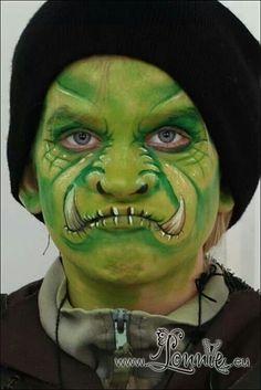 #facepaint #facepainting orc