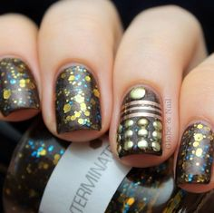 dalek doctor who inspired nail art!