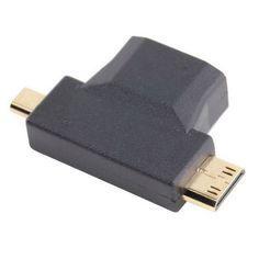 HDMI+Female+to+Mini+Micro+HDMI+Male+V1.4+90+Degree+2+in+1+Convertor+Adapter+db