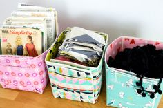 Sew a Fat Quarter-Sized Fold Up Basket! — SewCanShe | Free Sewing Patterns for Beginners