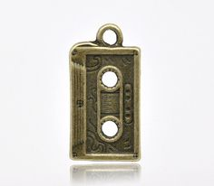 10 Bronze Metal RETRO CASETTE TAPE Charms  by SmartParts on Etsy, $4.49