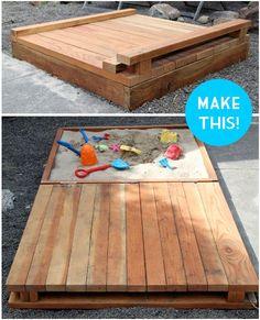 DIY Outdoor Sandbox Tutorial
