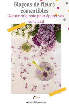 Découvrez une astuce toute simple et originale pour un apéro réussi: des #glaçons de #fleurs #comestibles ou fruits. Faciles et rapides à réaliser, ces glaçons décoratifs apporteront une touche de fantaisie à vos cocktails. Laissez parler votre imagination: fleurs comestibles, fruits, aromates ou pourquoi pas au café ou thé couplé à de l'eau, du champagne ou autres alcools sont la garantie d'un effet « waouw » lors de votre prochaine fête ou réunion de famille. #cuisine #recette #plantes Deco Originale, Cocktails, Coin, Permaculture, Champagne, Blog, Menu, Welcome Gifts, Edible Flowers
