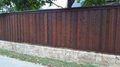 Dark Fence Stain Dark Wood Stained Fence Backyard