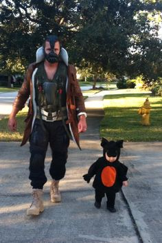 'Yes, I am a 30 year old man that still dresses up for Halloween...' -Josh Scobee | #10 PK    Check out Josh and his son dressed up as Bane and Batman!