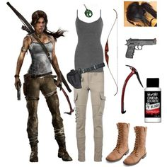 Lara Croft Cosplay. Need this for halloween!