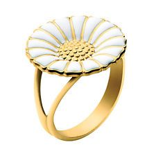 Georg Jensen Gilded Silver Daisy Ring - 18 mm