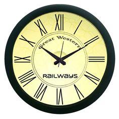 Western Railways Design Wall Clock (With Glass)