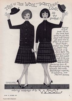 1959 ad promoting wool fashions.