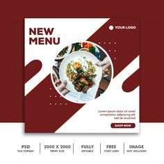Discover thousands of Premium PSD available in PSD and JPG formats Graphic Design Flyer, Food Poster Design, Web Design, Graphic Design Inspiration, Social Media Poster, Social Media Banner, Social Media Design, Food Branding, Food Packaging Design